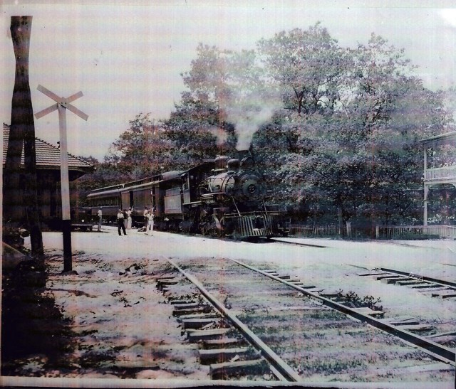 The depot at Tallulah Falls via the Rabun County Historical Society